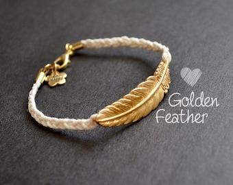 Cream/gold spring strap
