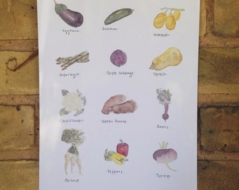 Eat Your Vegetables Print