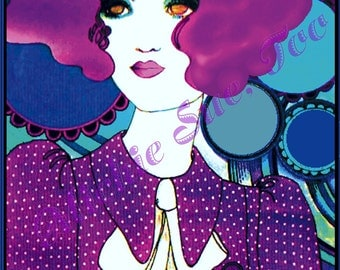 """PSYCHEDELIC """"SWINGING SIXTIES"""" Fashion Illustration-- Intro Magazine, 1968 - Uncredited Artist - Instant Download"""