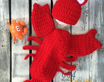 Newborn Lobster Photo Prop, Lobster Costume, Baby Lobster Costume,Photo Prop, Lobster, Photography Prop, Baby Shower Gift, Halloween Costume