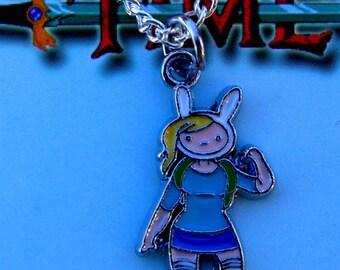 Adventure Time Fiona silver necklace