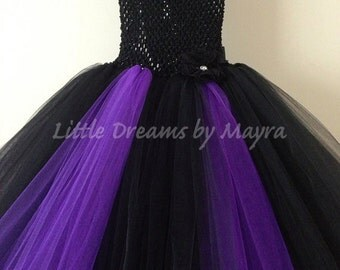 Maleficent inspired tutu dress size nb to 14years