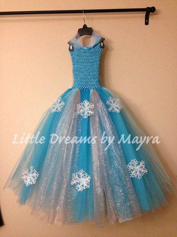 Queen elsa inspired tutu dress and matching by for Diy party dress