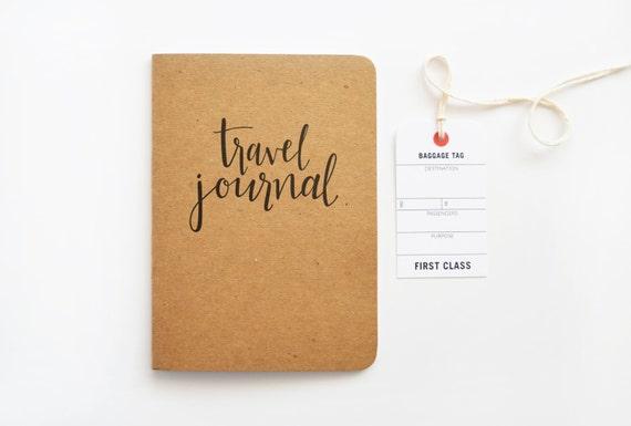 Kraft travel journal calligraphy notebook hand