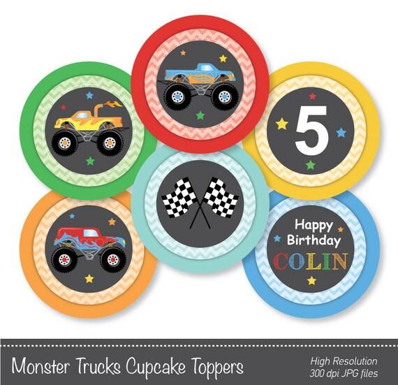 Monster Trucks Cupcake Toppers Monster Trucks by ...