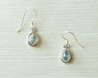 Petite Aquamarine Earrings