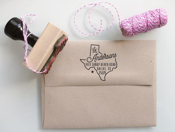 Custom Texas State Return Address Stamp By Mysplendidsummer