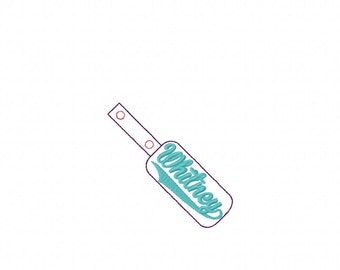 Whitney - In The Hoop - Snap/Rivet Key Fob - DIGITAL EMBROIDERY DESIGN