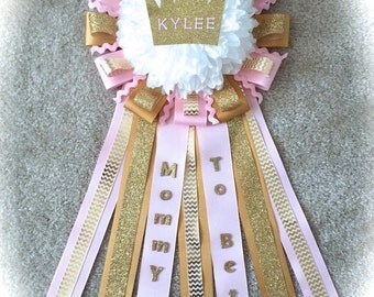 Princess Customized Baby Shower Corsage