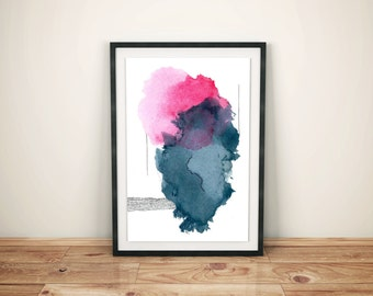 Large Abstract Watercolor Print. Abstract Painting Print. Giclee Watercolor Print. Large Wall Art. Colorful Watercolor Painting