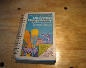 Vintage 1978 Gousha Los Angeles County Street Atlas