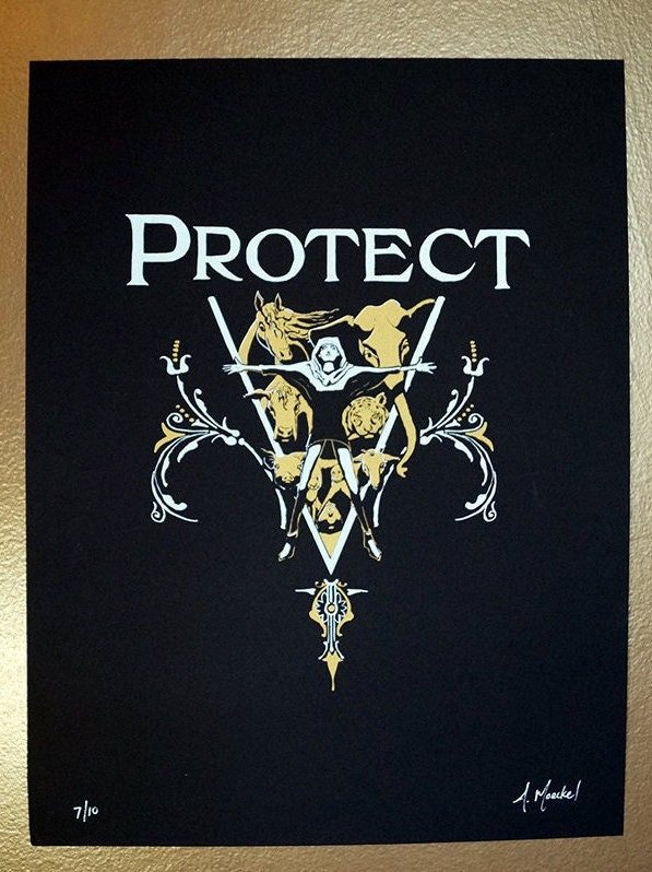 "Silkscreen Print, 1st Edition ""Protect"""