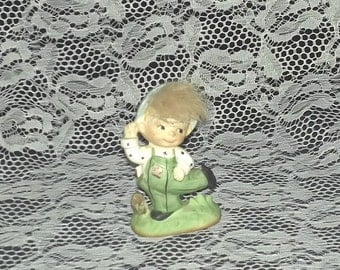 Blonde Haired Country Boy Figurine
