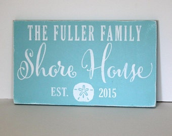 personalized beach house sign, beach house, shore house, beach decor, personalized sign