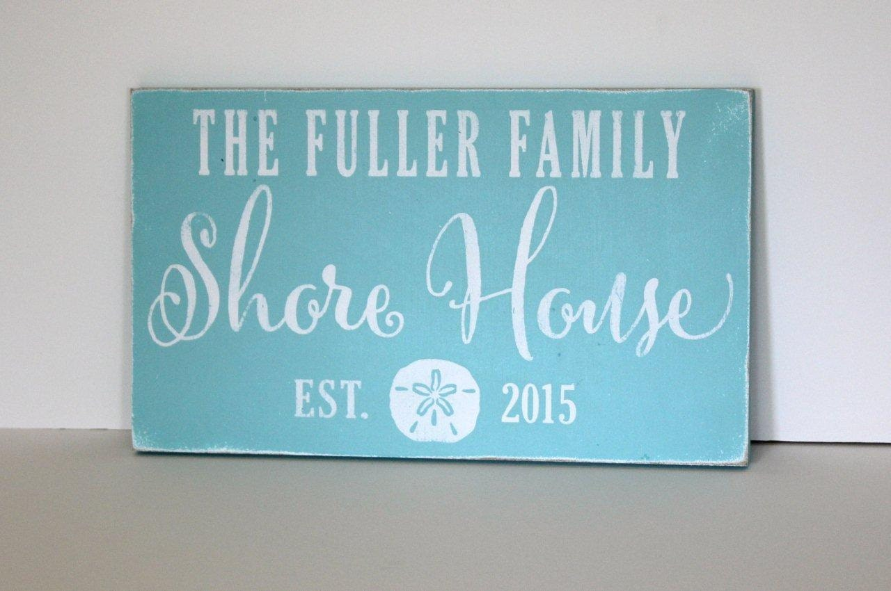 Personalized beach house sign beach house shore house beach for Custom beach house