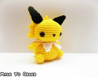 Crochet Jolteon Inspired Chibi Pokemon