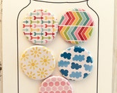 Choice of cute patterned flair or a set of five. Add a clip for adorable planner clips too!