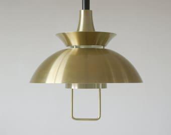 Golden hanging lamp, gold, pendant lamp, ceiling lamp, vintage design