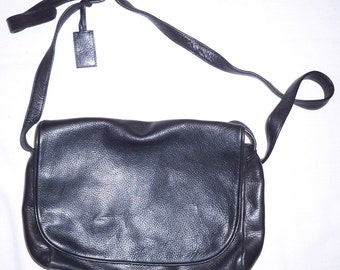 Stone Mountain Dark Black Messenger Satchel Purse Bag