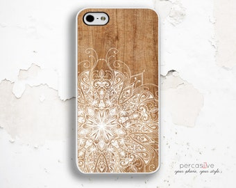 iPhone 6 Case Wood Geo - iPhone 5s Case, iPhone 6 Plus Case White Floral, iPhone 5c Case Wood Print, Geo iPhone 6 Case Floral :1063