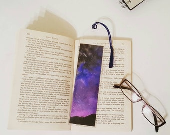 Galaxy bookmark, with tassel and sleeve