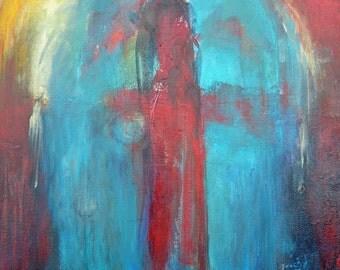 "Original ""WINGS"" 16 x 20 "" ANGEL Spiritual Art  Acrylic Painting"