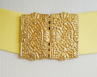 Yellow Belt with Gold Clasp