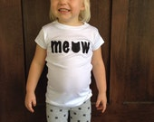 "Kitty Cat ""meow"" T-shirt"