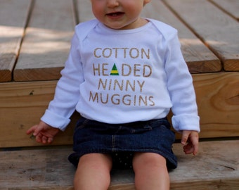 "Elf ""Cotton Headed Ninny Muggins"" Bodysuit"
