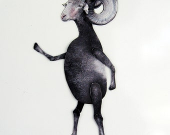 Ram Magnet, Funny Moveable Animal Magnet