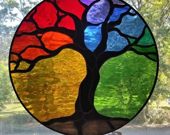 Tree of Life - Stained Glass Panel