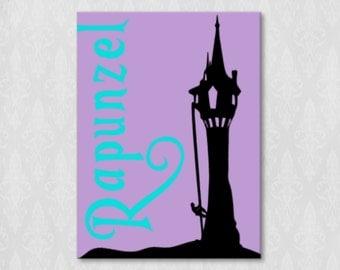 Rapunzel Tower Icon Canvas