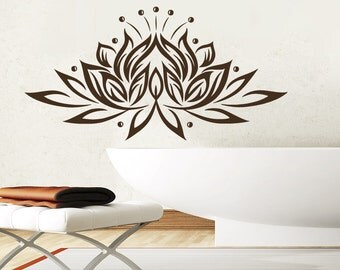 wall decals yoga lotus indian buddha decal vinyl sticker home decor bedroom interior design art mural - Design Wall Decal