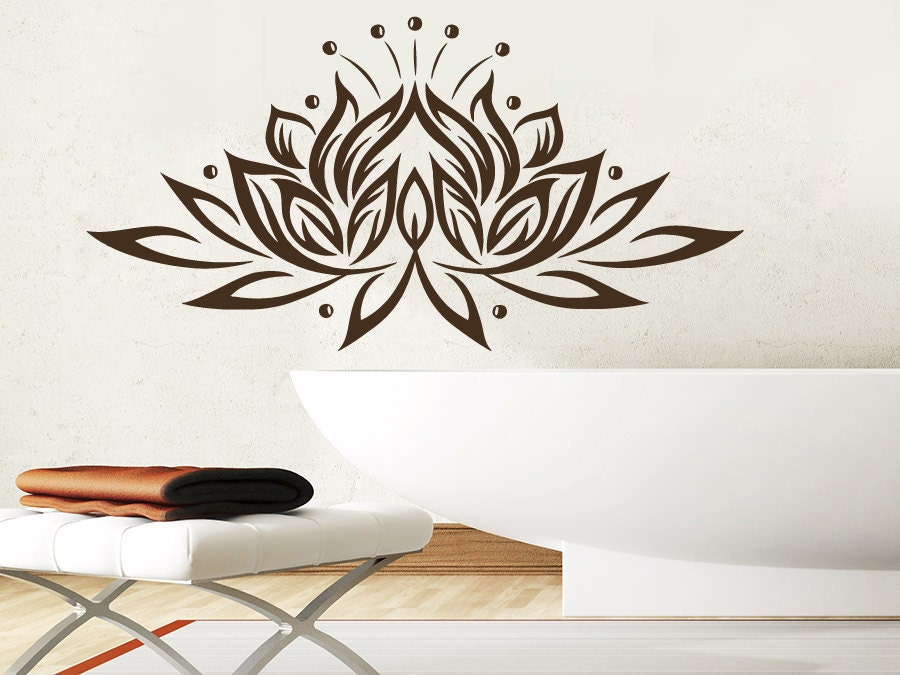 Wall Decals Yoga Lotus Indian Buddha Decal Vinyl Sticker Home