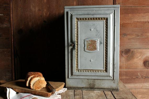Vintage Bread Cabinet Vintage Bread Box Galvanized Bread