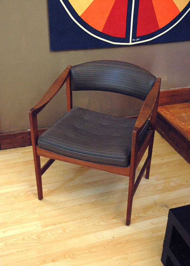 Dux Chair Danish Modern Mid Century Vintage Wood Brown
