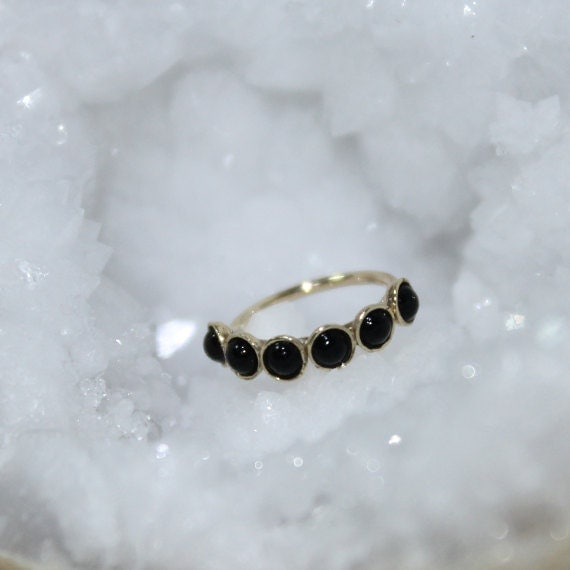 Gold Tragus Earring 2mm Onyx - Rook Earring - Nose Ring Stud - Cartilage Earring - Daith Piercing - Helix Jewelry - Septum Piercing
