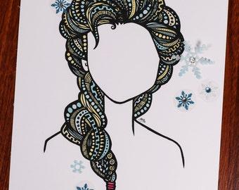 Zentangle - Ice Queen