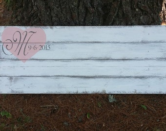 Distressed Rustic Personalized Pallet Guest Book, Pallet Wedding Signs,Upcycled Pallet, Rustic Wedding Decor, Guest Book Alternative