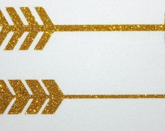 Iron On Vinyl Gold Glitter Arrows