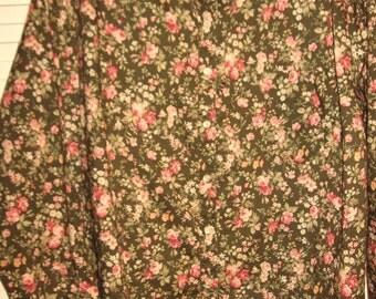 Vintage Lauren Ralph Lauren Wonderful Fall Cotton Blouse 3 X Stunning Find !