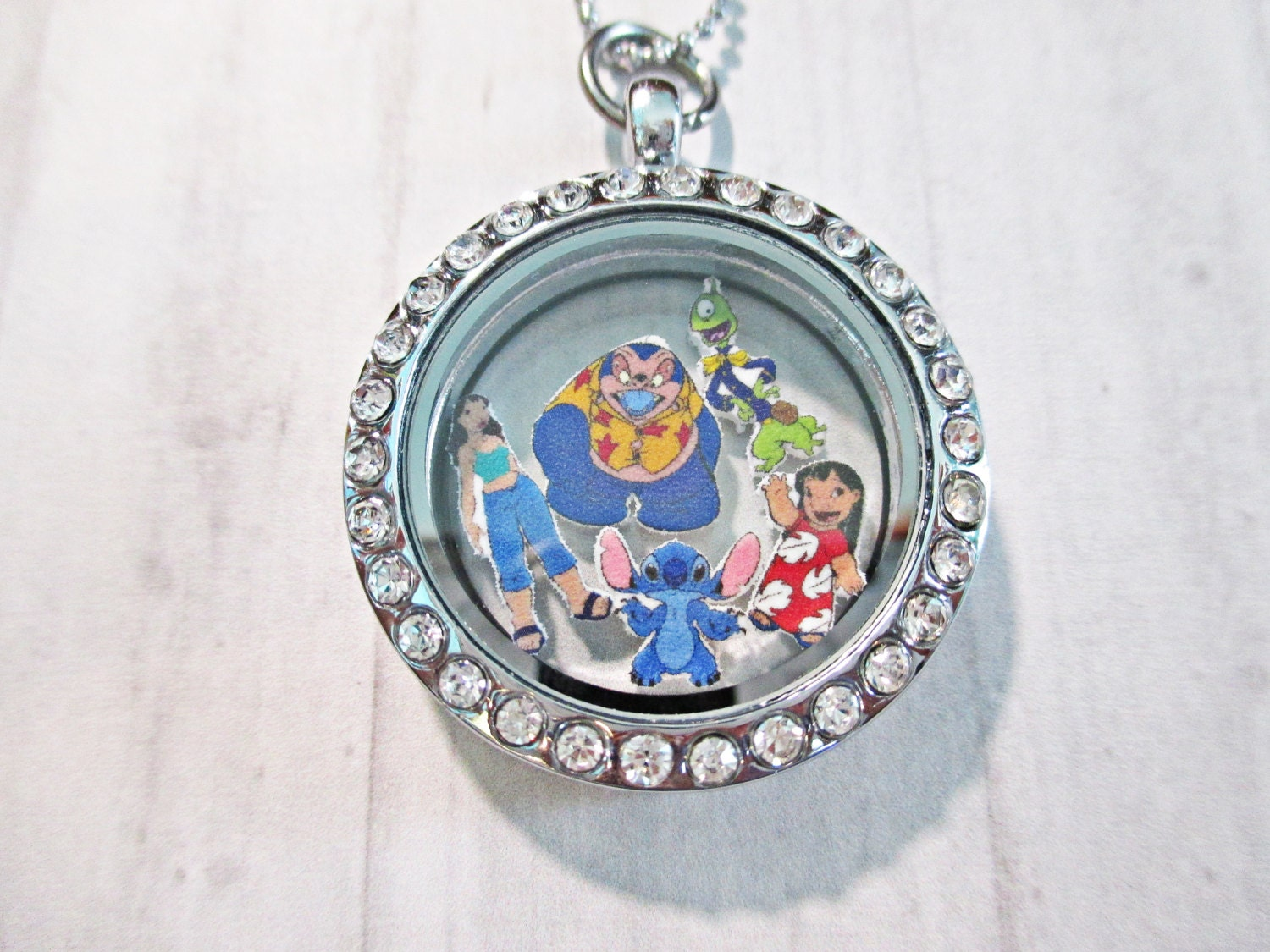disney lilo and stitch floating charms by charmingandcute