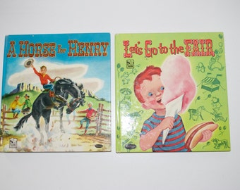 "Story Hour Series ""A Horse for Henry"" & ""Let's Go to the Fair"" by Whitman Children's Books 1951 1952"