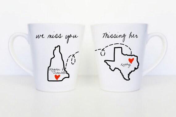 We Miss You Set of 3 Mugs