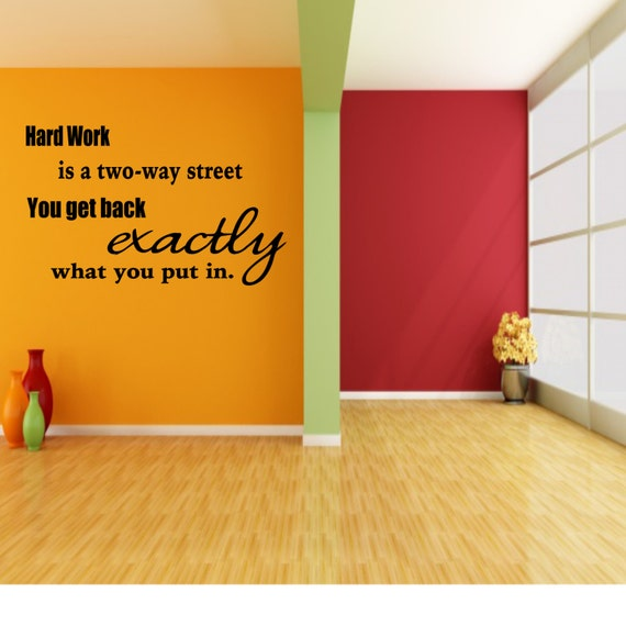 Classroom Decal Hard Work Is A Two Way Street Wall Decal - How do i put on a wall decal