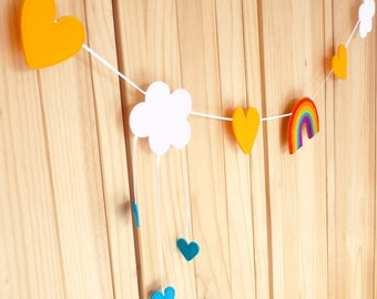 How To Make A Rainbow Felt Weather Garland - Bunting (3 Metres)