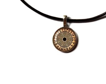 Viking necklace Rune pendant Norwegian jewelry NWR17