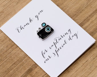 Valentine present. Wedding Photographer Card - Wedding Videographer Card -  Thank You Card - Thank You For Capturing our Special Day