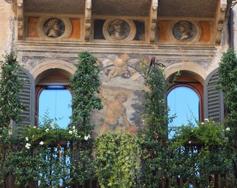 Italy Photography - Italy Print - Italy Wall Decor - Verona Balcony - Italy Wall Decor - Gift Idea - Gift for Her - Travel Photography