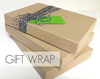 Gift Wrap Box, Boutique Packaging, Gift Wrapping Upgrade, FOR Prints/Matted Prints ONLY